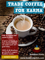 Coffee for Karma | BuddhistPrints.com