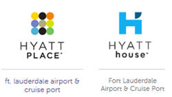 Hyatt Place and Hyatt House Fort Lauderdale Airport&Cruise Port hotel logos