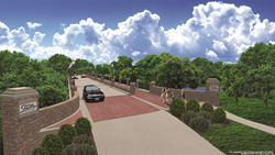 Road and bridge illustration for Birnham Woods road extension at The Falls