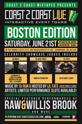Coast 2 Coast LIVE Comes To Boston, Massachusetts June 21, 2014!
