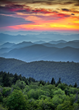 Blue Ridge Parkway at Sunset