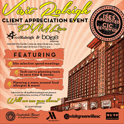 VIsit Raleigh is partnering with Plan Your Meetings for its annual client appreciation event.