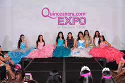 Fernanda Kelly during the Quince Expo Fashion Show