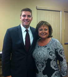 Zach Daigle, PreCheck's President and COO, and New Mexico Governor Susana Martinez