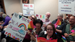 Supporters and opponents at Vancouver School Board hearings