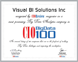 Visual BI in CIO Review - Top 100 Big Data Companies