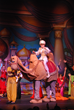 The elaborate stage design for the 4th and 5th Grade Drama Club's production of Aladdin Jr. included a life-size camel.