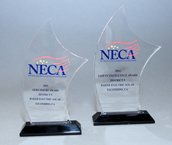Baker Electric Solar NECA Awards