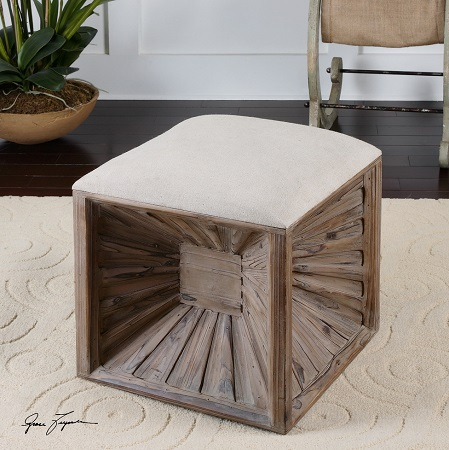 brunner small storage ottoman from uttermost furniture matty mirrored cube - Storage Ottoman Cube