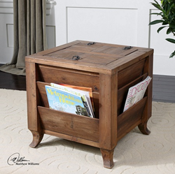 Rimmon Wooden Side Table With Storage From Uttermost 24343