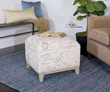 Amrit Cube Ottoman From Uttermost 23138