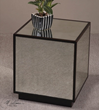 Matty Mirrored Cube Accent Table From Uttermost 24091