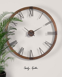 Amarion Wall Clock From Uttermost 06655