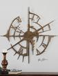 Gallatin Metal Wall Clock From Uttermost 06652