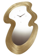 Decorative Clock Mirror In Brushed Gold From Triarch International