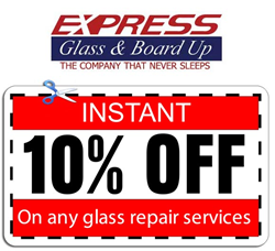 Discount Coupons for Glass Repair in South Florida Announced by Express Glass Repair & Board Up