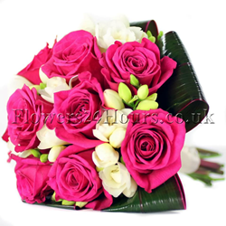 Pink flower bouquet by online flower delivery service Flowers24Hours - we offer london flower delivery same day and next day flower delivery uk