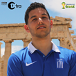 Drew32 in Athens, Greece for the shooting of his video for BBC Radio 1Xtra's 2014 FIFA World Cup Freestyle competition.