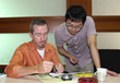 Andy Lamb (L ) with Dongguan Supply Manager Andy Zhang