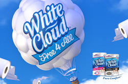 Free Bath Tissue Coupon from White Cloud® available exclusively at Walmart.