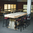 Pub Tables at CENTER St. Louis Use 100% Reclaimed Hemlock