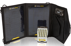 goal zero guide 10 plus mobile kit, recharge, gps, ipod, solar, panel