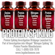 Protein Spiking Investigation Webpage Launched by The Oliver Law Group...