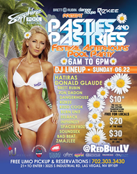 Sapphire Pool and Day Club Pasties and Pastries Pool Party Sunday June 22, 2014