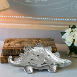 Beatriz Ball Baby Collection Silver Dinosaur