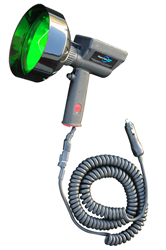 35 Watt HID Handheld Spotlight that produces a beam 1,900 feet in length