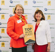 ALOM CEO, Hannah Kain and Claire Mendonca, ALOM Sr. Human Resources Manager attend the award presentation for being named to the BayAreaNewsGroup exclusive list of 2014 Top 100 Bay Area Workplaces.