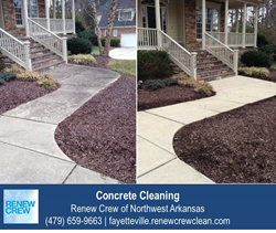 Concrete Cleaning in NW Arkansas
