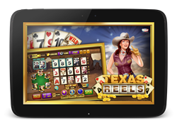 Texas Reels split reel slot allows you to play with other people while spinning the same set of reels.