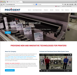 Provident introduces new website with flexo doctor blade and end seal resources