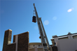 TIBSG uses cranes to lift racks for CER installation.