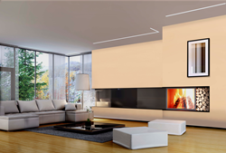 Reveal Wall Wash by Pure Lighting in contemporary living room application