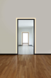 Verge Door by Pure Lighting in minimal hallway