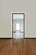 Verge Door by Pure Lighting in minimal hallway