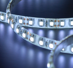 Flexible LED array with highly reflective white substrate