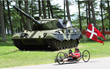 Danish Armed Forces veteran Jens Sondergaard on his hand cycle.
