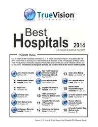 Top Hospitals, US News and World Report, Johns Hopkins, UCLA, Mayo Clinic, Ophtalmology, Neuro Surgery, Visualization, TrueVision, 3D