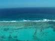 Belize Real Estate. Aerial view of the Belize Barrier Reef in the vicinity of Ambergris Caye