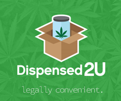 "Dispensed2U Logo ""Legally Convenient"""