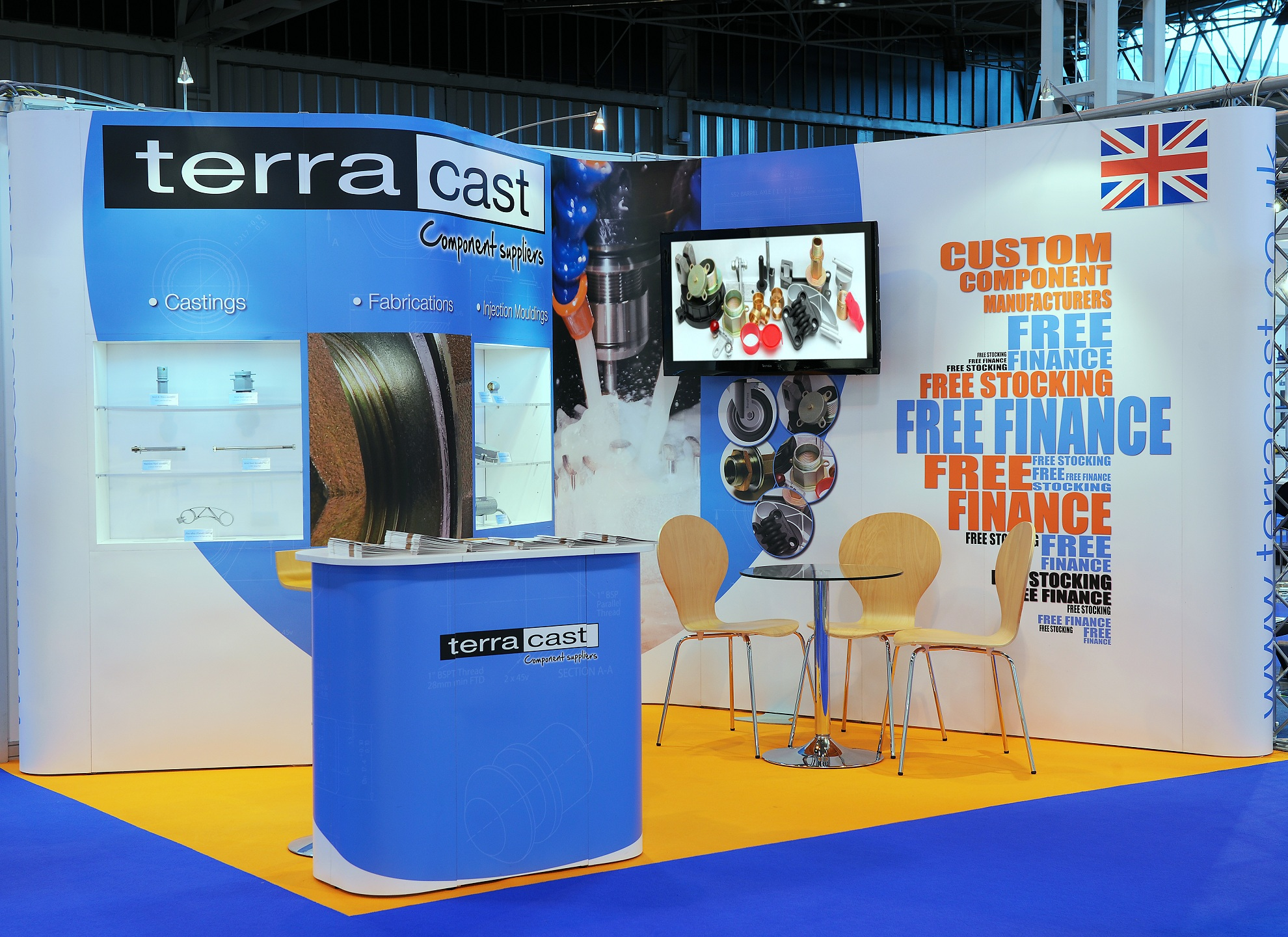 Exhibition Stand Installation : Quadrant design produce exhibition stands built to last