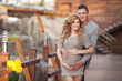 Joining mother for an expecting baby portrait