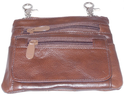 Biker Purse Brown Free Shipping