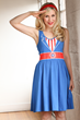 Inspired by Captain America's uniform and the USO girls, Her Universe took elements from both and came up with this dress design! Feel like the First Avenger in this fun A-line dress.
