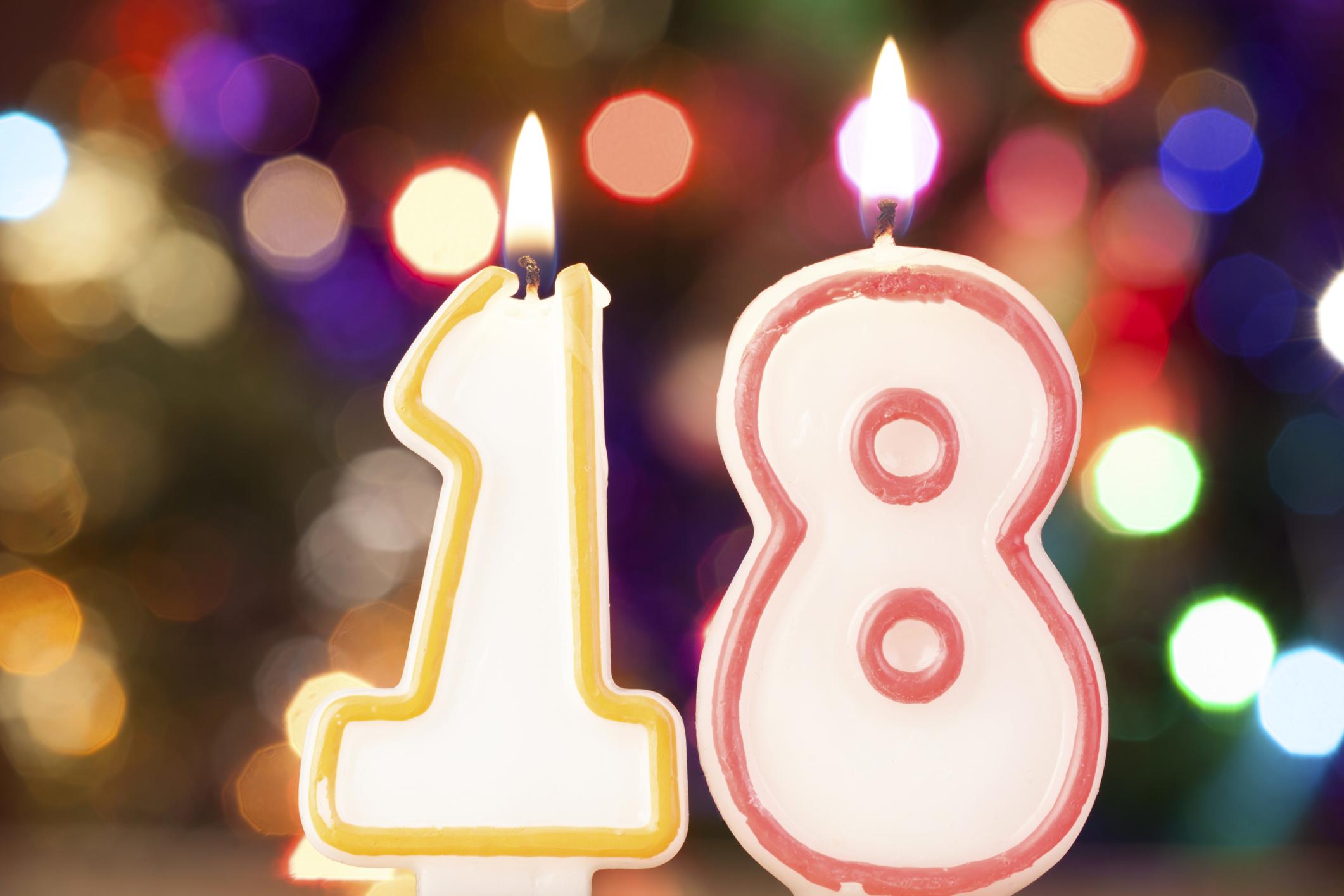 Открытка с днем рождения парню на 18 лет 22