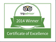 Fort Adams Awarded 2014 TripAdvisor Certificate of Excellence