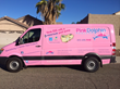 Pink Dolphin Pool Care Repair Van